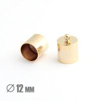 Колпачок-циллиндр, ВД 12мм, позолота 16К