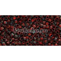 Бисер Miyuki Delica 11/0 Непрозрачный Пикассо красный (DB2263)
