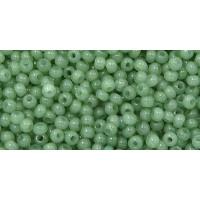 Бисер Preciosa 10/0 №02663 Полупрозрачный алебастр зеленый, 2 сорт (50 гр)