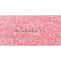 Бисер Toho 15/0 Прозрачный радужный нежно-розовый