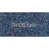Бисер Toho 15/0 Окрашенный изнутри люстровый хрусталь + синий капри