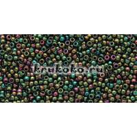 Бисер Toho 15/0 Высоко металлизированный оливковый ирис