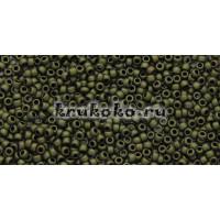 Бисер Toho 15/0 Матовый темный оливковый