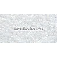 Бисер Miyuki Delica 11/0 Непрозрачный белый жемчуг (DB0201)