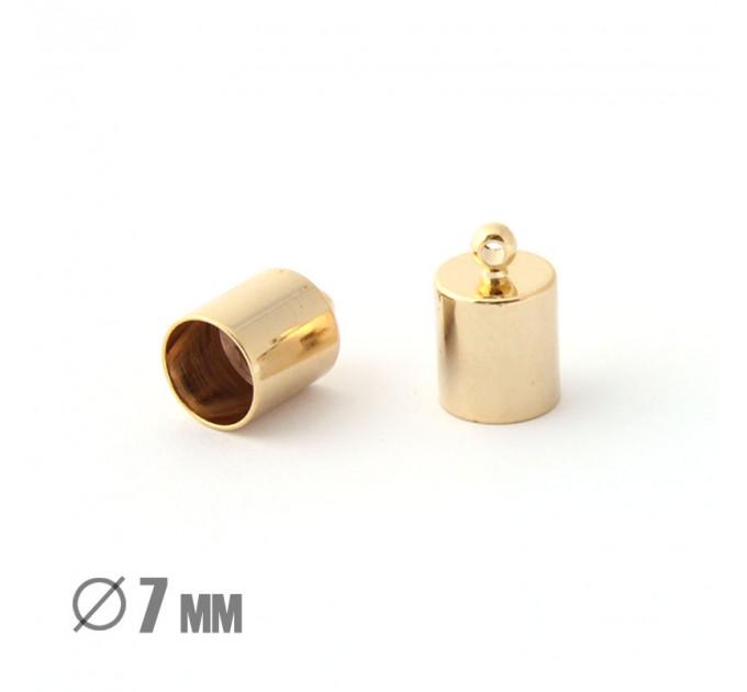 Колпачок-циллиндр, ВД 7мм, позолота