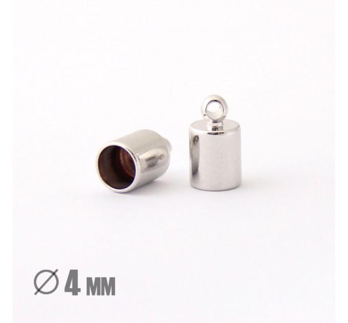 Колпачок-циллиндр, ВД 4мм, родиевое покрытие