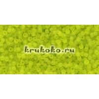 Бисер Toho 11/0 Прозрачный морозный зеленый лайм (TR-11-4F)