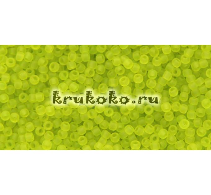Бисер Toho 11/0 Прозрачный морозный зеленый лайм