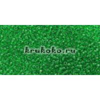 Бисер Toho 15/0 Прозрачный зеленая трава