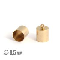 Колпачок-циллиндр, ВД 9.5мм, латунь