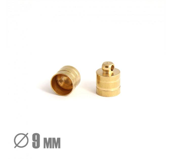 Колпачок-цилиндр клеевой, ВД 9мм, латунь