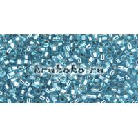Бисер Miyuki Delica 11/0 Внутреннее серебрение вода (DB0044)