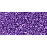 Бисер Preciosa 10/0 №17328 Непрозрачный алебастр фиолетово-сиреневый, 1 сорт (50 гр)