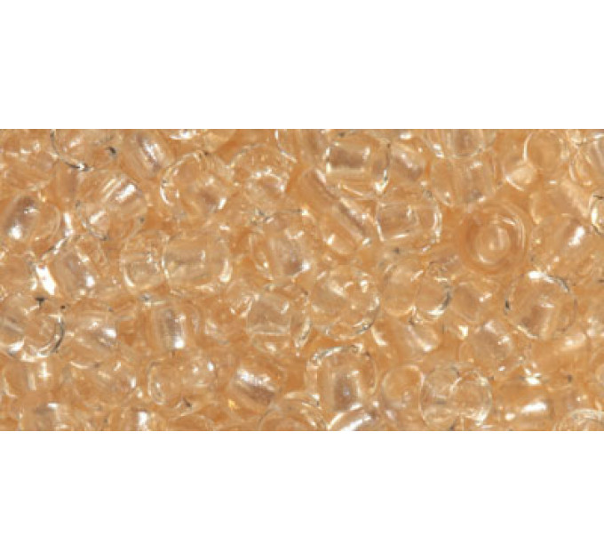 Бисер Preciosa 10/0 №38292 Прозрачный жемчужный прокрас абрикос, 1 сорт (50 гр)