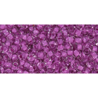 Бисер Preciosa 10/0 №38328 Прозрачный внутренний прокрас темно-розовый,1 сорт (50 гр)