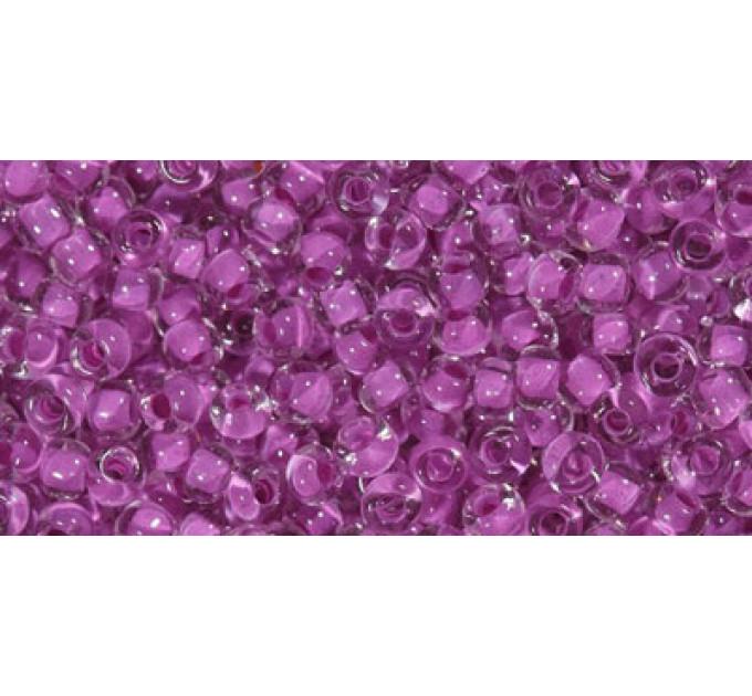 Бисер Preciosa 10/0 №38328 Прозрачный внутренний прокрас темно-розовый, 1 сорт (50 гр)