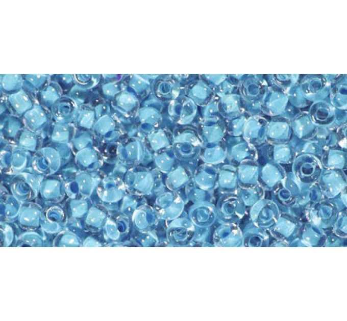 Бисер Preciosa 10/0 №38332 Прозрачный внутренний прокрас светло-голубой, 1 сорт (50 гр)