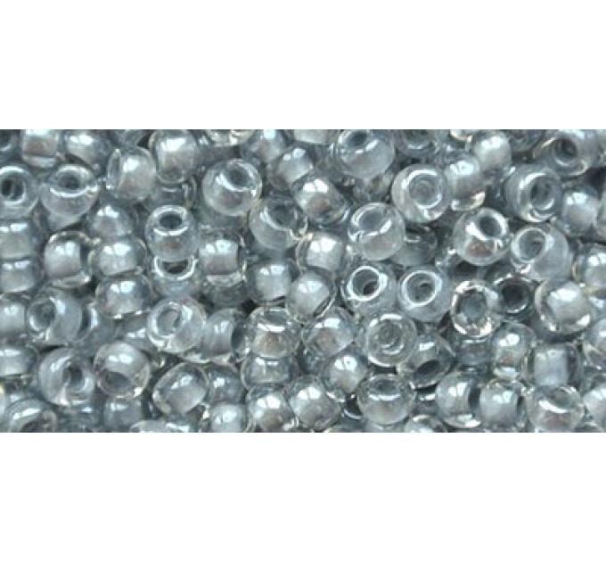 Бисер Preciosa 10/0 №38342 Прозрачный внутренний прокрас серый, 1 сорт (50 гр)