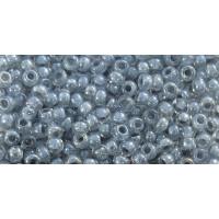 Бисер Preciosa 10/0 №38642 Прозрачный внутренний прокрас светло-серый, 1 сорт (50 гр)