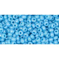 Бисер Preciosa 10/0 №64020 Непрозрачный радужный светло-голубой, 1 сорт (50 гр)