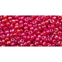 Бисер Preciosa 10/0 №94190 Непрозрачный радужный красный, 1 сорт (50 гр)