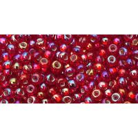 Бисер Preciosa 10/0 №97079H Внутреннее серебрение красный, 1 сорт (50 гр)