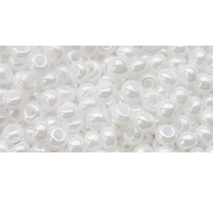 Бисер Preciosa 10/0 №46102  Непрозрачный белый жемчуг, 2 сорт (50 гр)