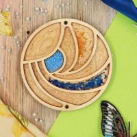 Органайзер для бисера с крышкой «Птичка»