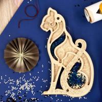 Органайзер для бисера с крышкой «Кошка»