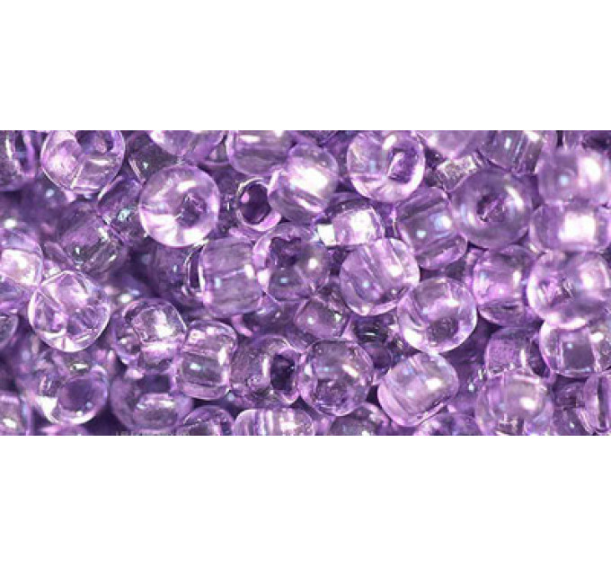 Бисер Preciosa 10/0 №01122 Прозрачный фиолетовый, 1 сорт (50 гр)
