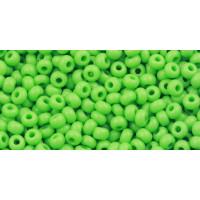 Бисер Preciosa 10/0 №53210 Непрозрачный зеленое яблоко, 1 сорт (50 гр)