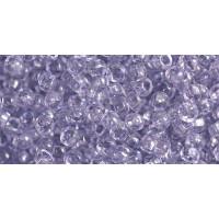 Бисер Preciosa 10/0 №01128 Прозрачный светло-сиреневый, 1 сорт (50 гр)
