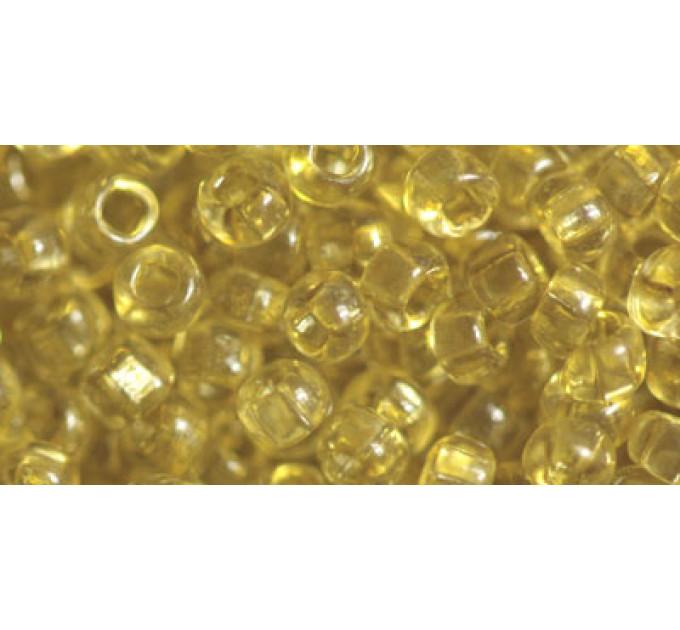 Бисер Preciosa 10/0 №01151 Прозрачный желто-зеленый, 1 сорт (50 гр)