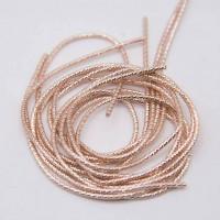 Канитель фигурная бамбук, 1,5 мм, розовое золото (5 гр)