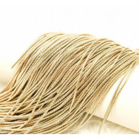 Канитель фигурная бамбук, 1,5 мм, палевое золото (5 гр)