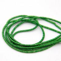 Канитель фигурная бамбук, 2 мм, зеленый (5 гр)