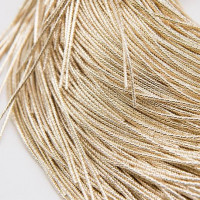 Канитель фигурная бамбук, 2 мм, светлое золото (5 гр)