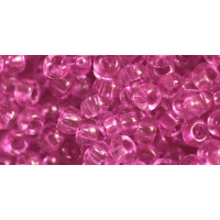 Бисер Preciosa 10/0 №01192 Прозрачный ярко-розовый, 1 сорт (50 гр)