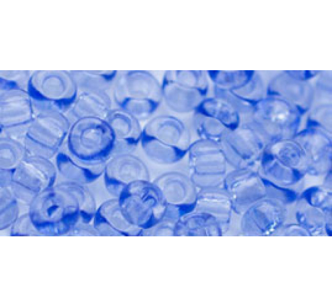 Бисер Preciosa 10/0 №01231 Прозрачный светлый сапфир, 1 сорт (50 гр)