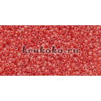 Бисер Toho 15/0 Окрашенный изнутри хрусталь + томат (TR-15-341)
