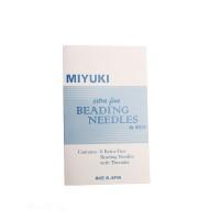 Miyuki Экстра-тонкие иглы для бисера с нитковдевателем, 6 шт