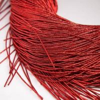 Канитель упругая, 1 мм, красная (5 гр)