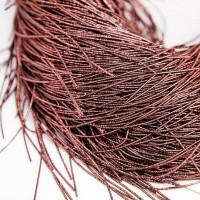 Канитель упругая, 1 мм, коричневая (5 гр)