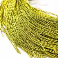 Канитель упругая, 1,7 мм, желто-зеленая (5 гр)