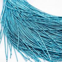 Канитель упругая, 1,7 мм, голубая серебристая (5 гр)