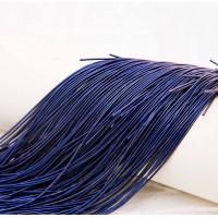 Канитель мягкая, 1 мм,  темно-синяя, (5 гр)