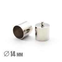 Колпачок-циллиндр, ВД 14мм, родиевое покрытие