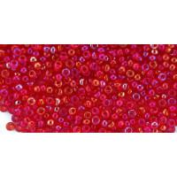 Бисер Preciosa 10/0 №91070 Прозрачный радужный красно-розовый, 1 сорт (50 гр)