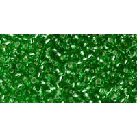 Бисер Preciosa 10/0 №57100 Внутреннее серебрение зеленый, 1 сорт (50 гр)