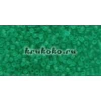 Бисер Toho 15/0 Прозрачный морозный зеленое стекло